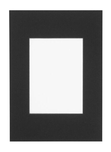 passepartout A4 zwart 13 x 18 zwart - 13691034 - HEMA