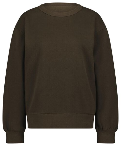 dames sweater donkergroen XL - 36214169 - HEMA