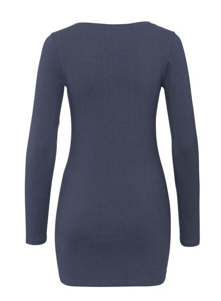 dames t-shirt -biologisch katoen donkerblauw L - 36348713 - HEMA