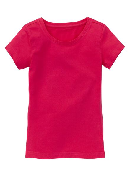 meisjes stretch t-shirt roze roze - 1000005543 - HEMA