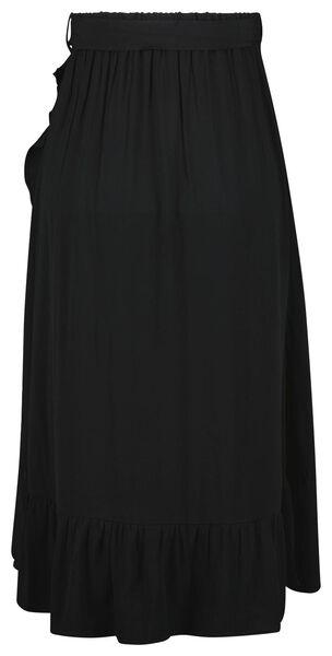 dames overslagrok zwart zwart - 1000023999 - HEMA