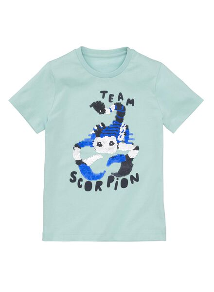 kinder t-shirt blauw blauw - 1000013112 - HEMA