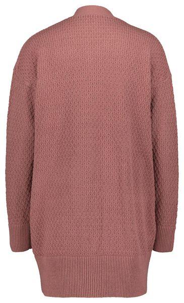 damesvest gebreid roze XL - 36208384 - HEMA