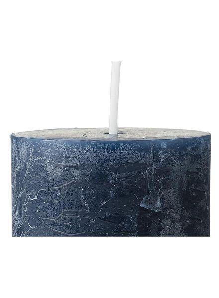 rustieke kaars - 11 x 5 cm - donkerblauw - 13503398 - HEMA