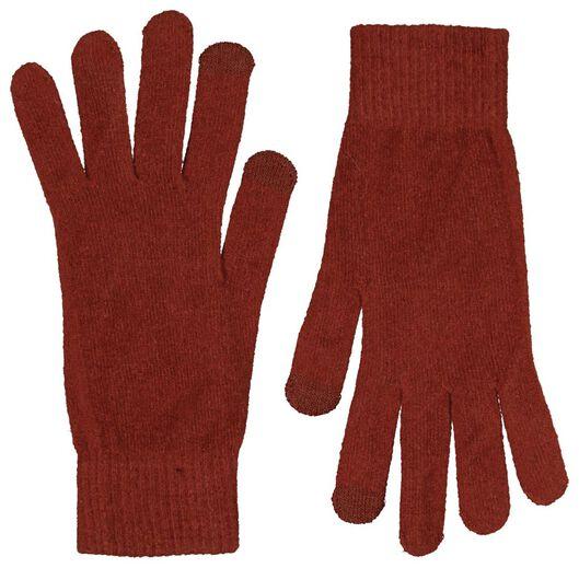 dameshandschoenen touchscreen cognac L/XL - 16460642 - HEMA