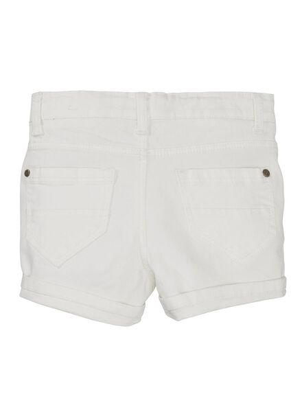 kinder skinny short wit 122/128 - 30860340 - HEMA
