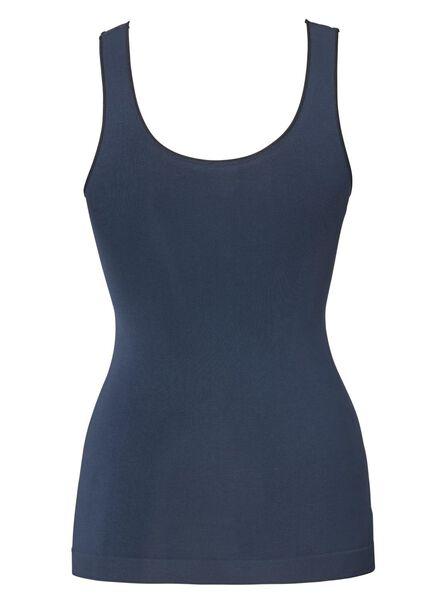 dameshemd naadloos micro donkerblauw donkerblauw - 1000010003 - HEMA