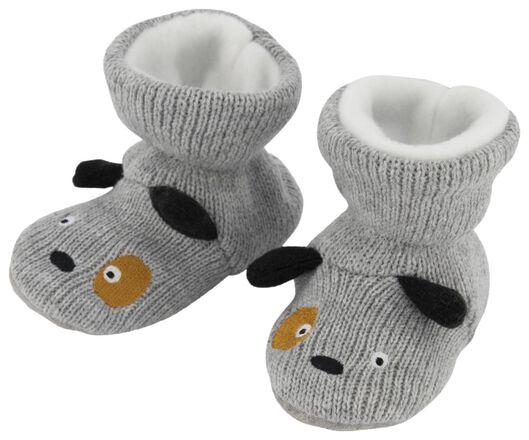 babysloffen hond grijsmelange grijsmelange - 1000020522 - HEMA