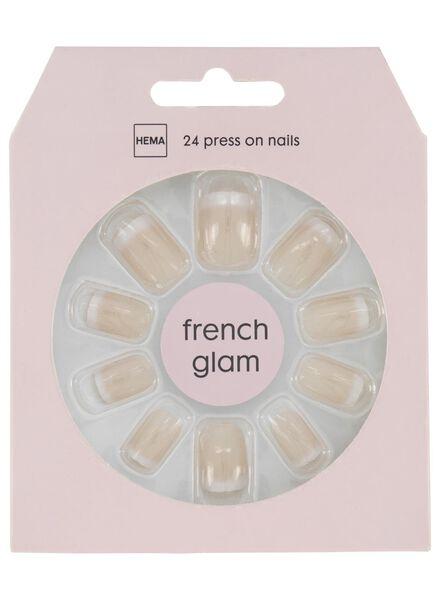 kunstnagels - french glam - 11249041 - HEMA
