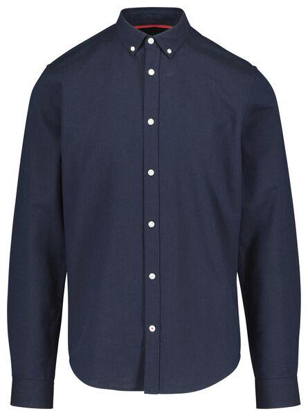herenoverhemd blauw blauw - 1000018190 - HEMA
