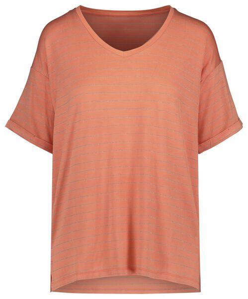 dames t-shirt oranje oranje - 1000019577 - HEMA