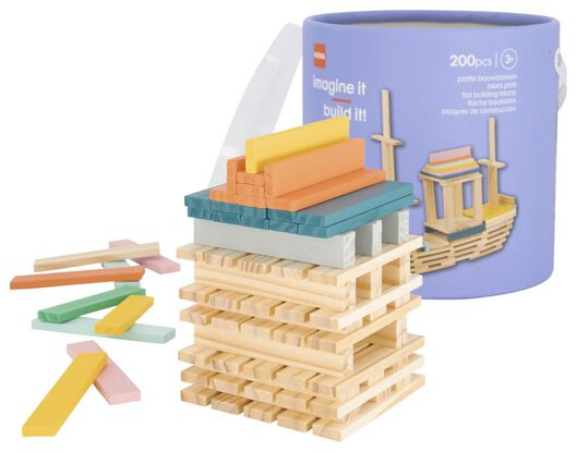 platte bouwblokken - 200 stuks - 15190189 - HEMA