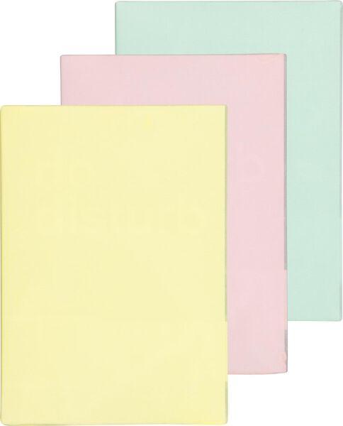 Rekbare boekenkaften pastel - 3 stuks - in Schoolspullen