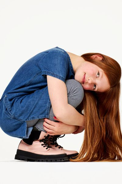kinderlegging streep donkerblauw 122/128 - 30871072 - HEMA