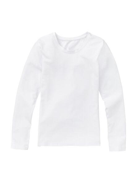 meisjes stretch t-shirt wit wit - 1000005547 - HEMA