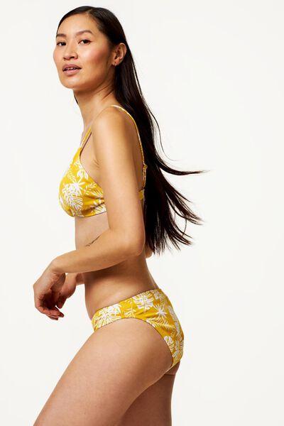 dames bikinibroekje - rib flower geel L - 22350234 - HEMA