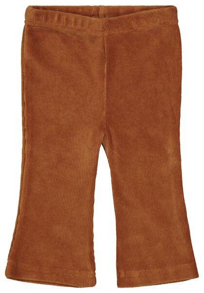 babybroek rib flared bruin bruin - 1000022021 - HEMA
