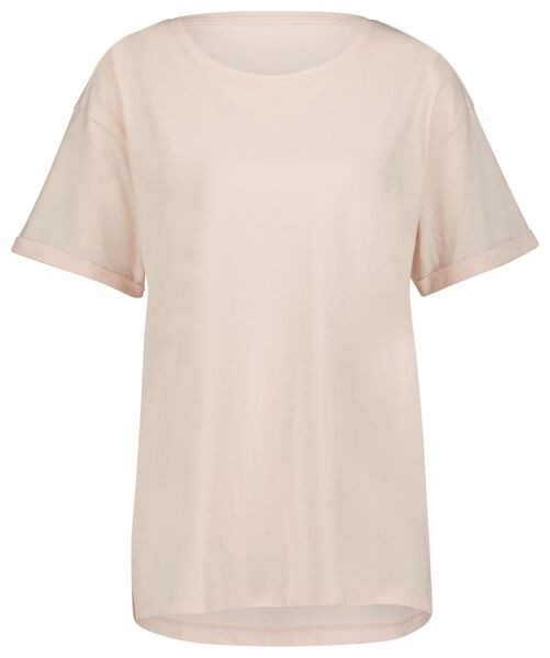 dames t-shirt lichtroze L - 36334088 - HEMA