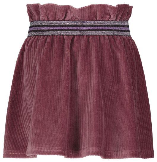 kinderrok corduroy paars paars - 1000024733 - HEMA