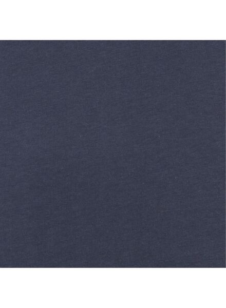 dames t-shirt -biologisch katoen donkerblauw donkerblauw - 1000005029 - HEMA