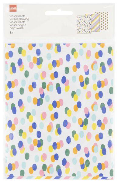washi sheets - 3 stuks - 14700332 - HEMA
