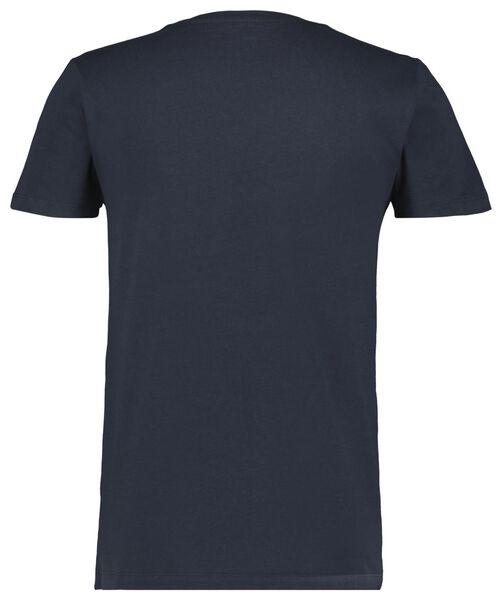 heren t-shirt donkerblauw donkerblauw - 1000023459 - HEMA