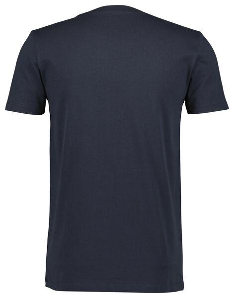 heren t-shirt donkerblauw XL - 34297471 - HEMA