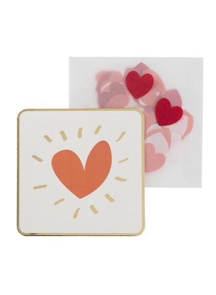 wenskaart met confetti - 60800626 - HEMA