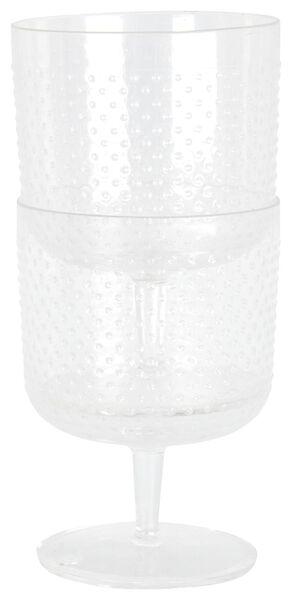 wijnglazen 200 ml - kunststof - 2 stuks - 41810146 - HEMA