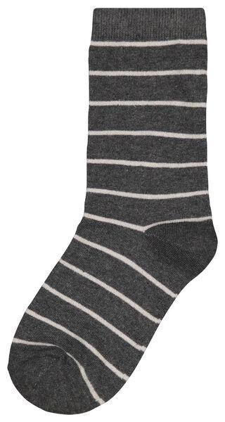 damessokken strepen grijsmelange grijsmelange - 1000025210 - HEMA