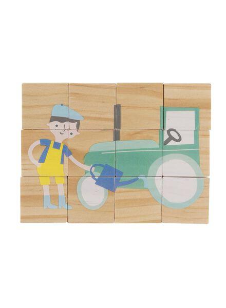houten blokken puzzel - 15110258 - HEMA
