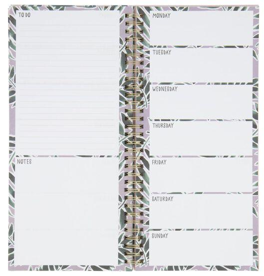 weekplanner spiraal met stickers 27x13 - 14100076 - HEMA