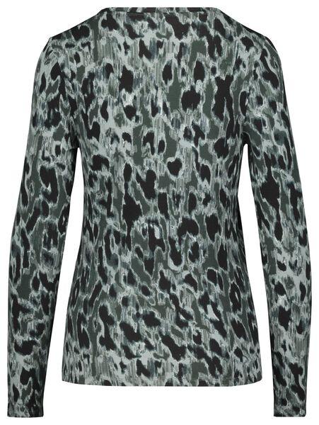 dames t-shirt donkergroen donkergroen - 1000017991 - HEMA