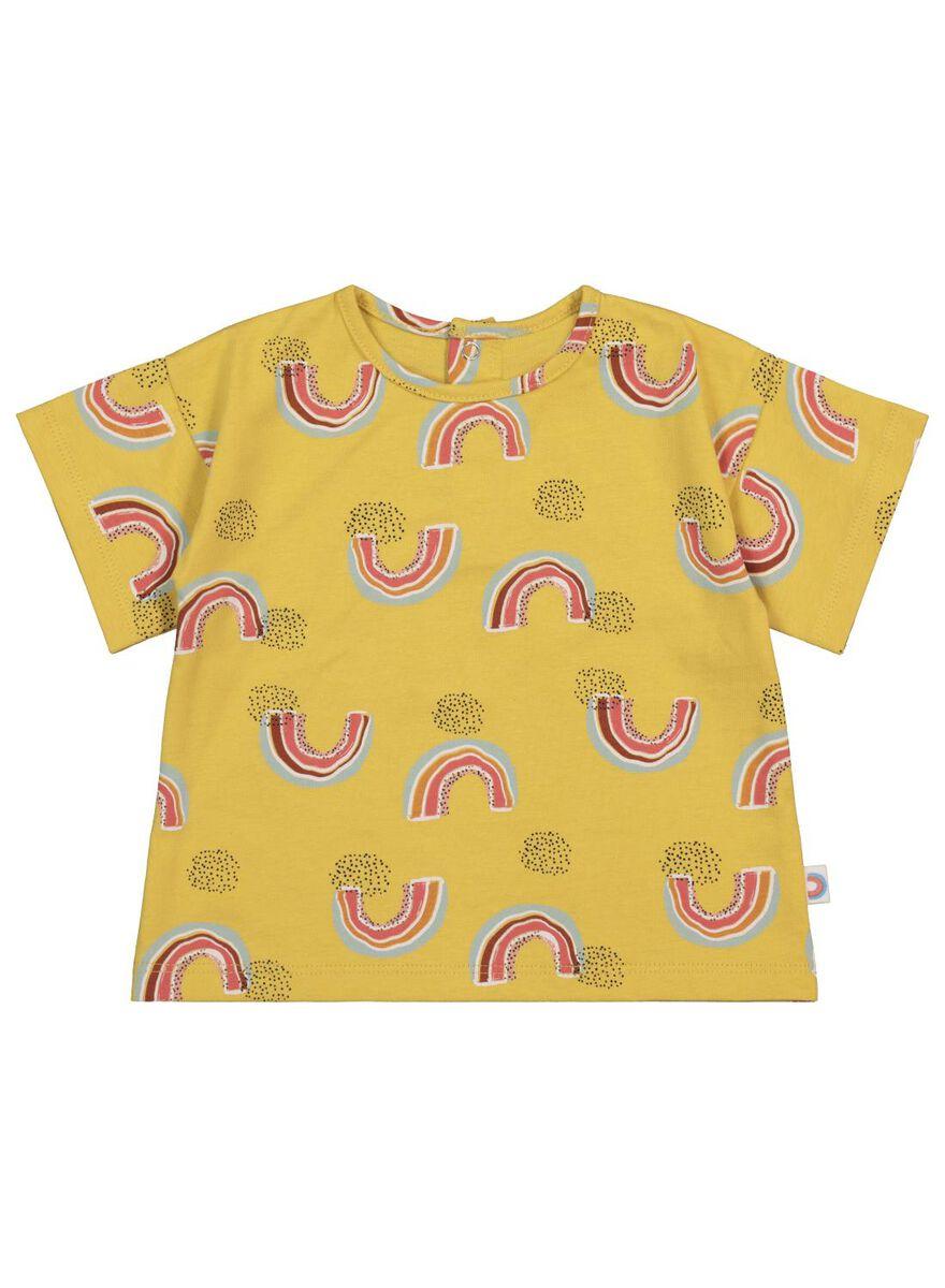 baby t-shirt geel, maat 62 of 68, 7,-