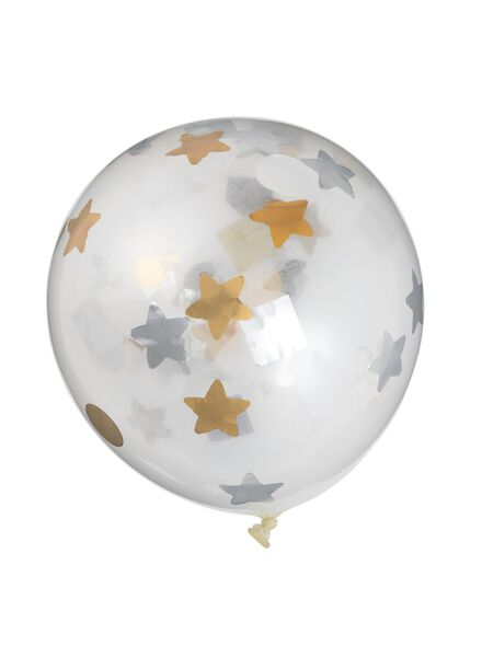 6-pak confetti ballon - 25250017 - HEMA