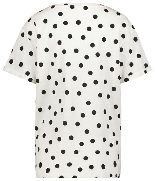 dames t-shirt stippen wit L - 36334098 - HEMA