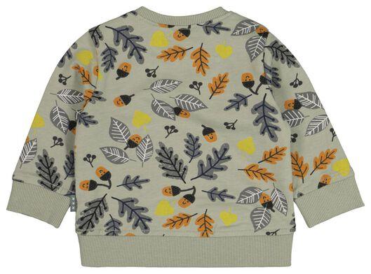 newborn sweater bladeren groen groen - 1000021190 - HEMA