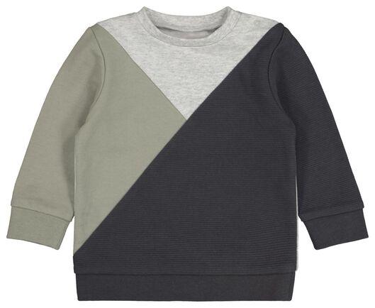 baby sweater geblokt olijf olijf - 1000021119 - HEMA