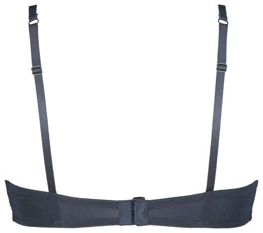 push-up beugelbh kant donkerblauw donkerblauw - 1000020407 - HEMA