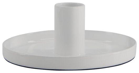 kandelaar met konijn Ø 11 cm metaal wit - 25810141 - HEMA