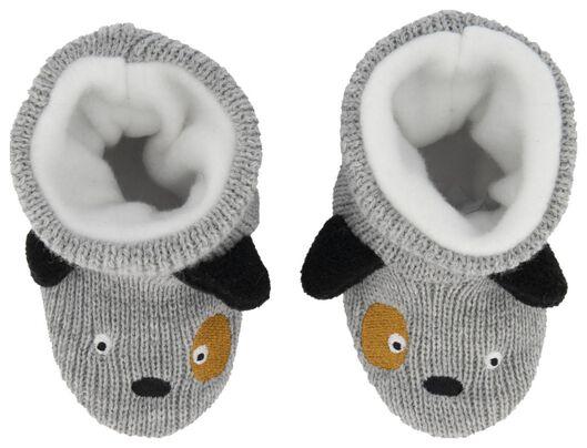 babysloffen hond grijsmelange - 1000020522 - HEMA
