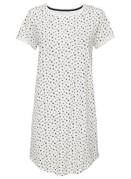 dames nachthemd katoen zwart/wit zwart/wit - 1000013164 - HEMA
