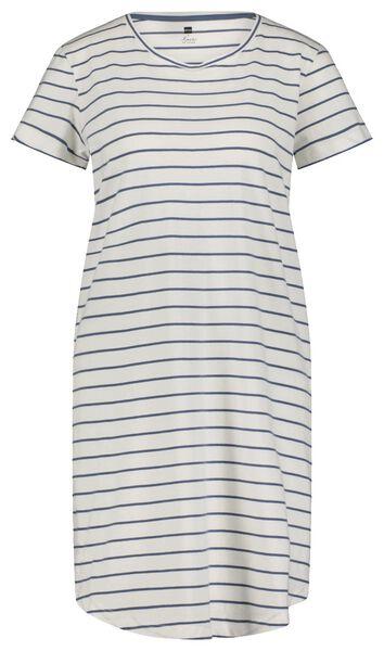 damesnachthemd strepen wit XL - 23400454 - HEMA