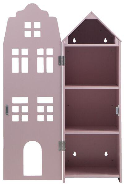 grachtenpand 24.5x25x75 hout roze - 15130106 - HEMA