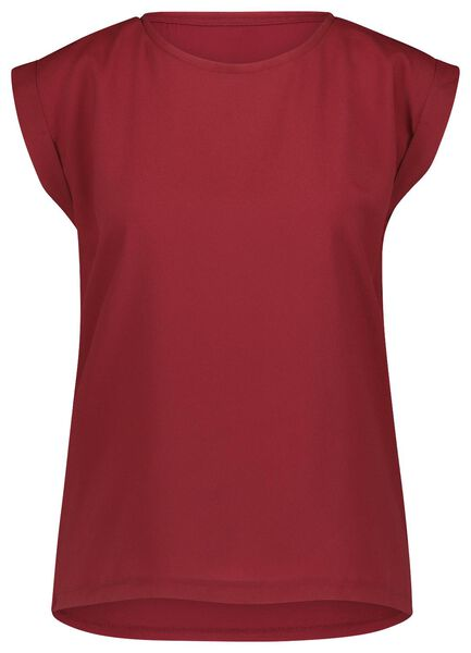 dames top rood rood - 1000022101 - HEMA