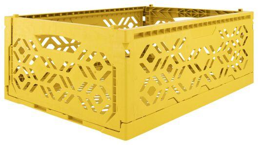 klapkrat recycled 30x40x15 - okergeel - 39821054 - HEMA