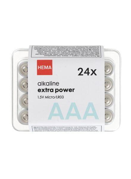 24-pak AAA batterijen - 41290260 - HEMA