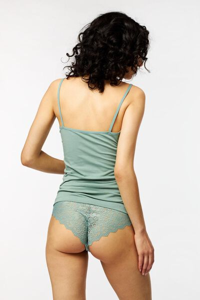 dameshemd spaghettibandjes groen groen - 1000018548 - HEMA