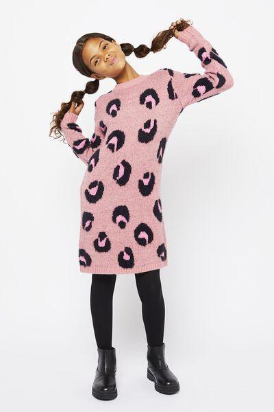 kinderjurk gebreid roze roze - 1000021203 - HEMA
