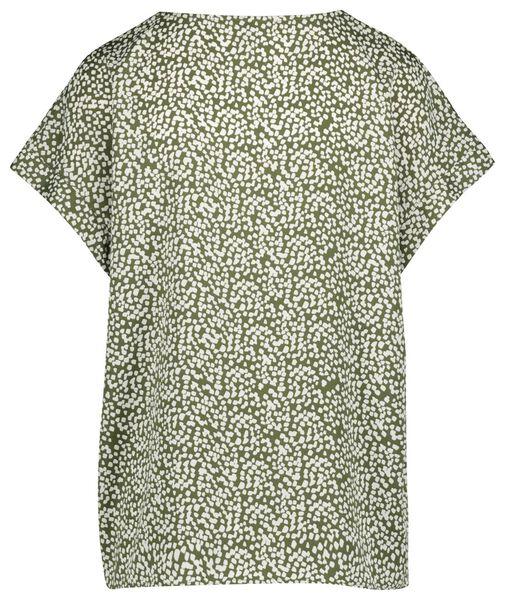 dames top olijf olijf - 1000019591 - HEMA